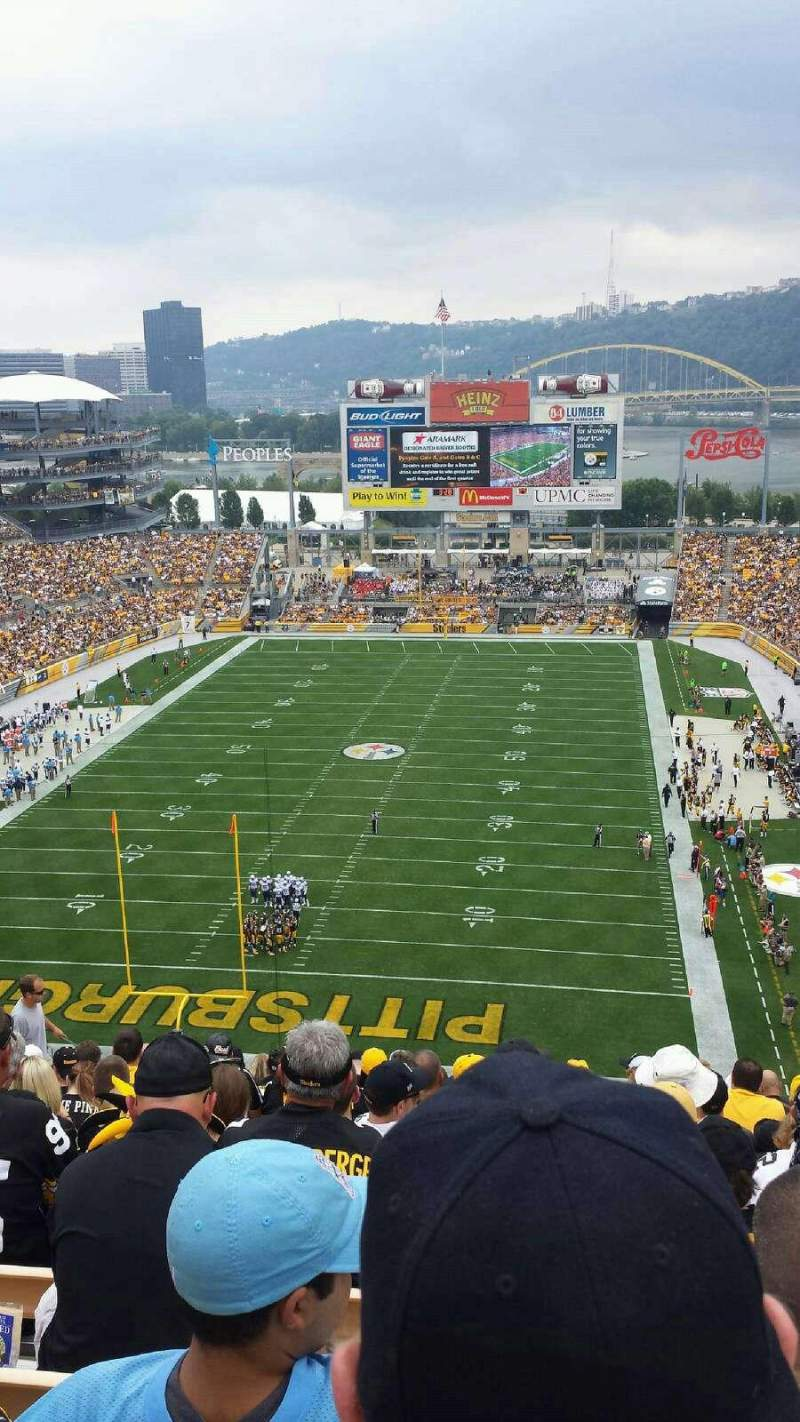 Seating view for Heinz Field Section 519 Row S Seat 16