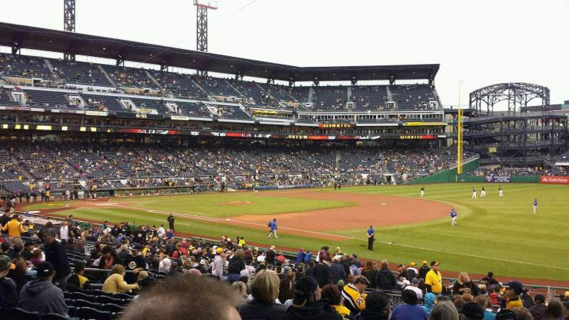 Seating view for PNC Park Section 103 Row T Seat 3