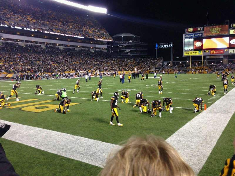 Seating view for Heinz Field Section 125 Row B Seat 4