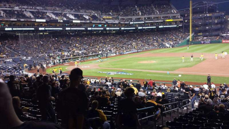 Seating view for PNC Park Section 108 Row Y Seat 20