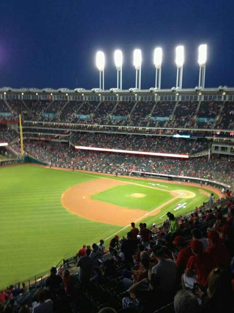 Seating view for Progressive Field Section 577 Row U Seat 23