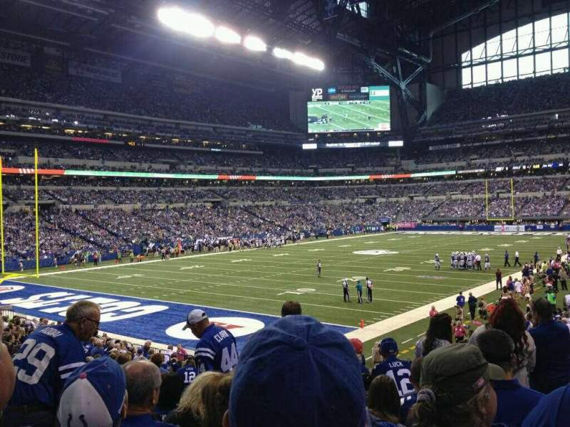 Seating view for Lucas Oil Stadium Section 148 Row 22 Seat 20