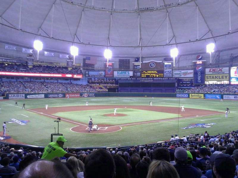 Seating view for Tropicana Field Section 104 Row GG