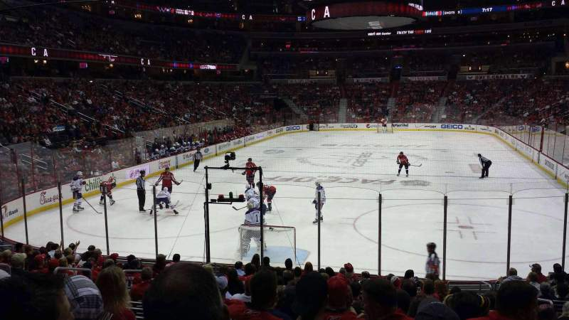 Seating view for Verizon Center Section 106 Row Q Seat 8