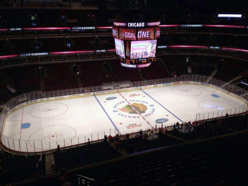 Seating view for United Center Section 302 Row 13