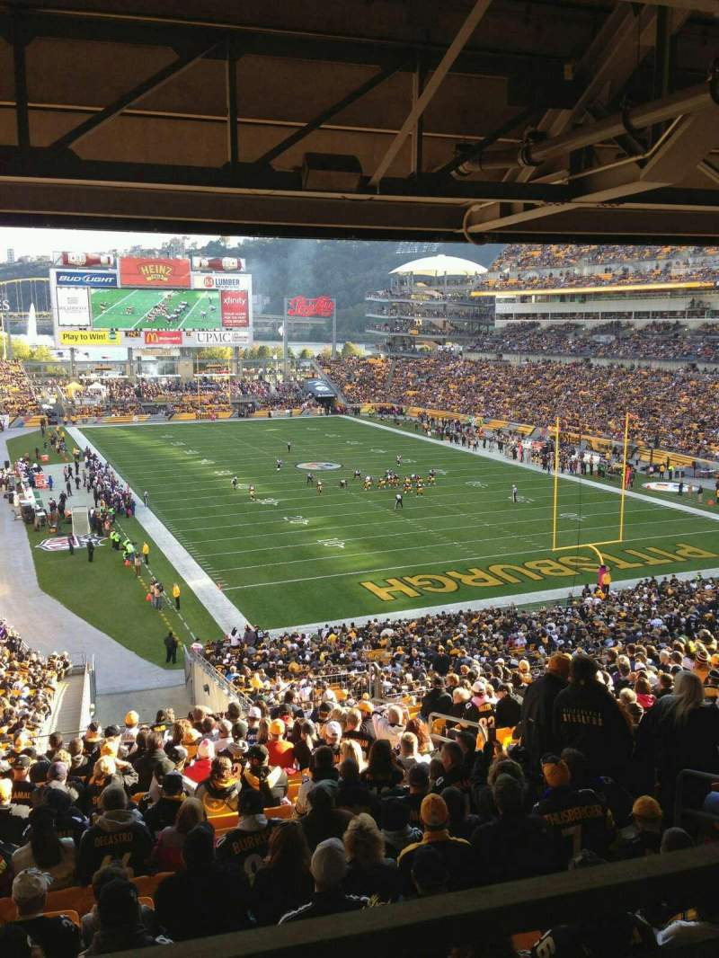 Seating view for Heinz Field Section NC-005 Row A Seat 11