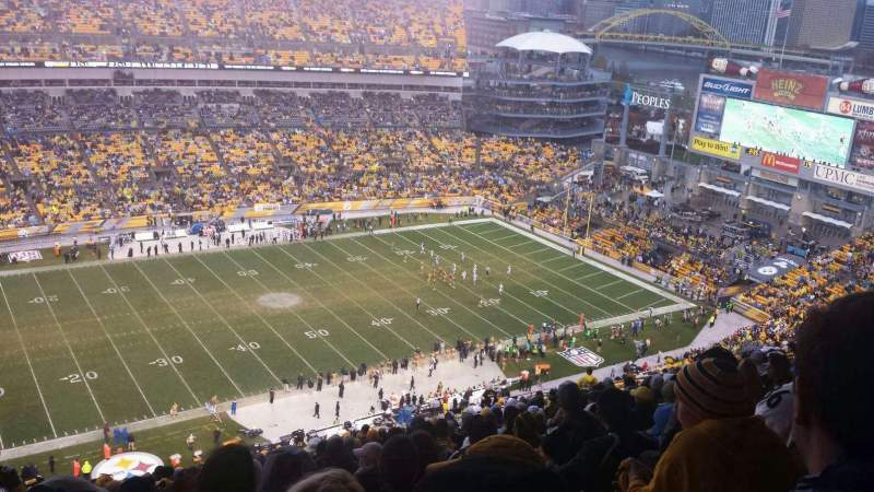 Seating view for Heinz Field Section 532 Row EE Seat 1