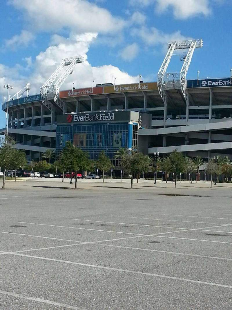 Seating view for EverBank Field Section Parking Lot
