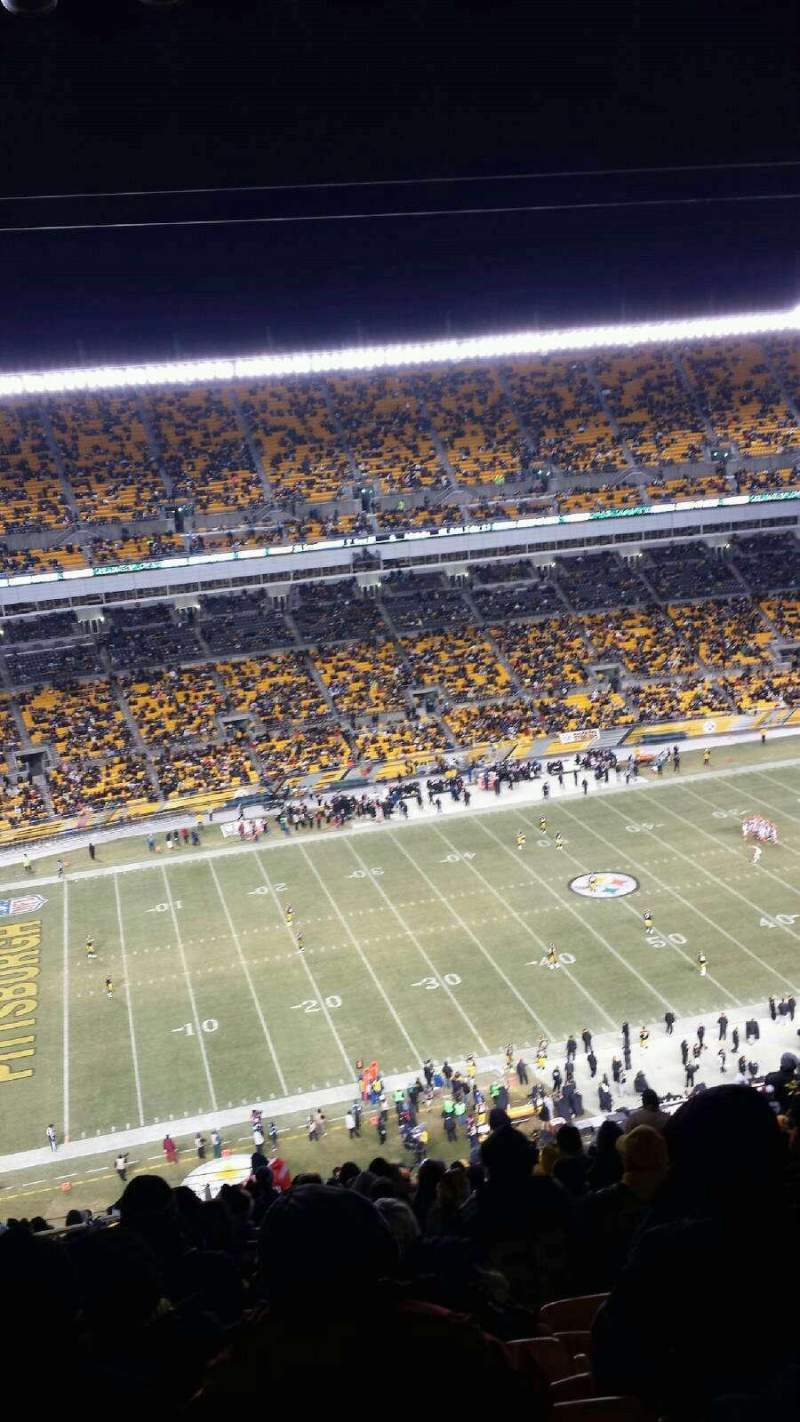 Seating view for Heinz Field Section 532 Row NN Seat 3