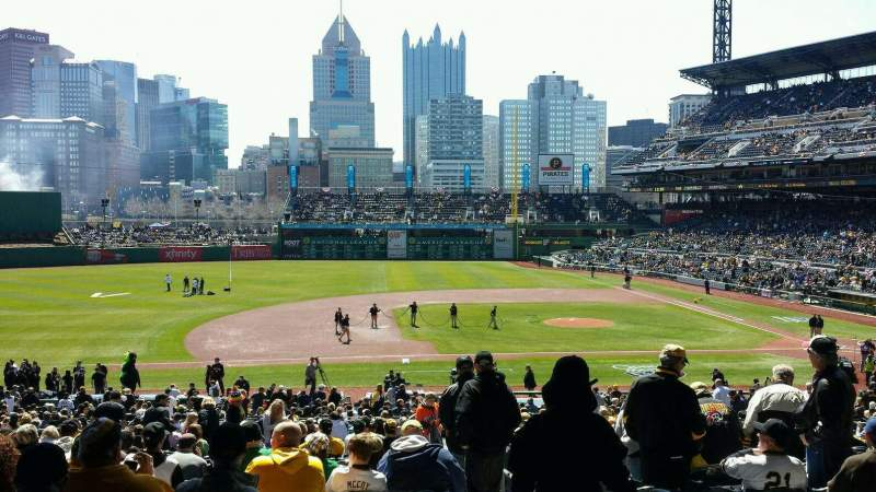 Seating view for PNC Park Section 124 Row EE Seat 1