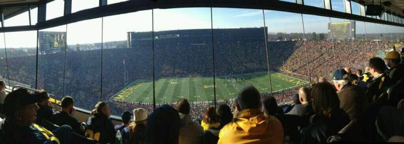 Seating view for Michigan Stadium Section West Suite 415