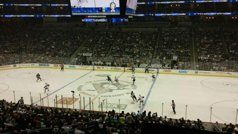 Seating view for PPG Paints Arena Section Club 1 Row A Seat 8