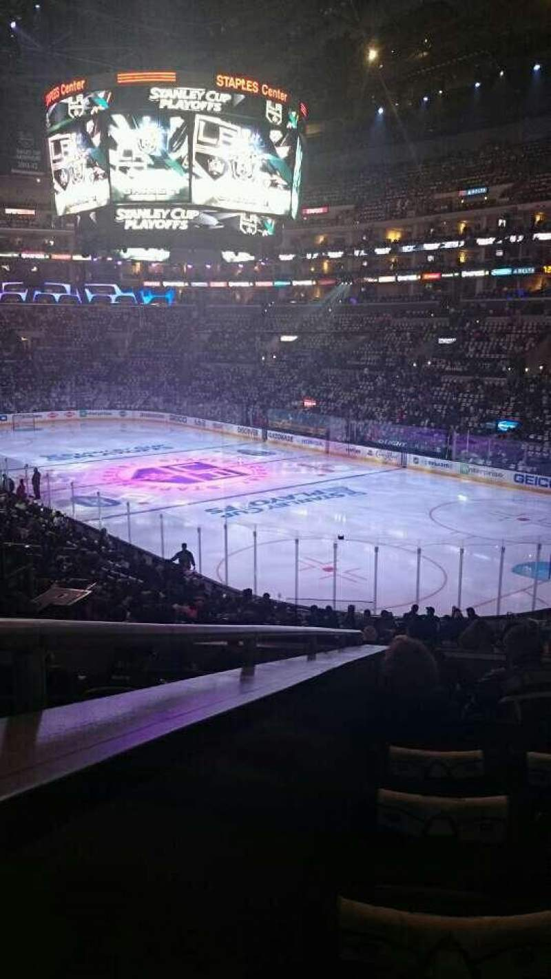 Seating view for Staples Center Section 210 Row 8 Seat 13