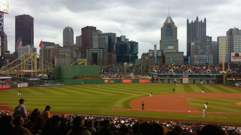 Seating view for PNC Park Section 124 Row EE Seat 2