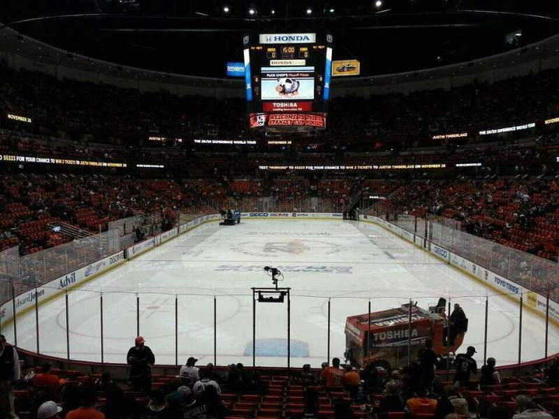 Seating view for Honda Center Section 201 Row S Seat 10