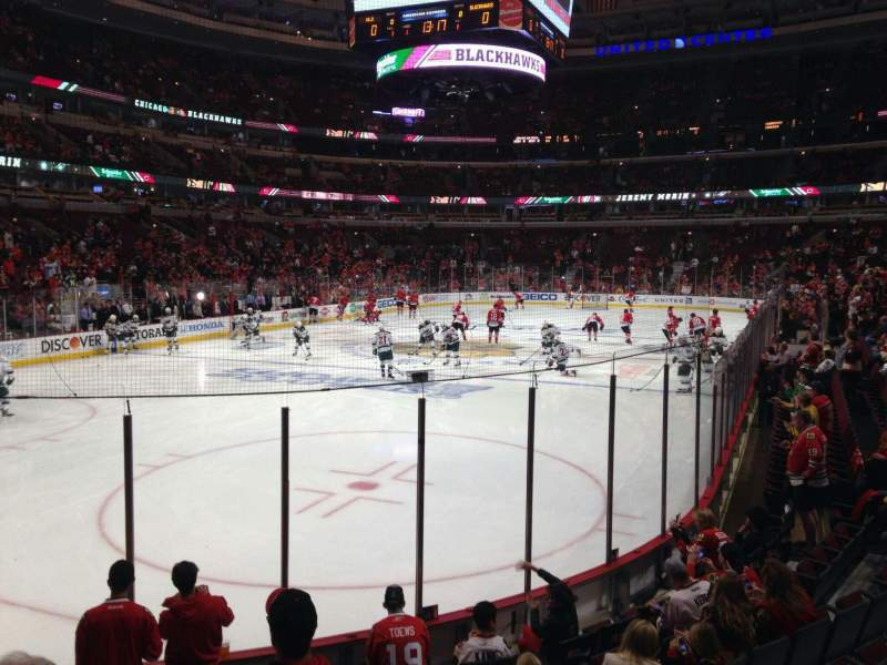 Seating view for United Center Section 115 Row 9 Seat 9