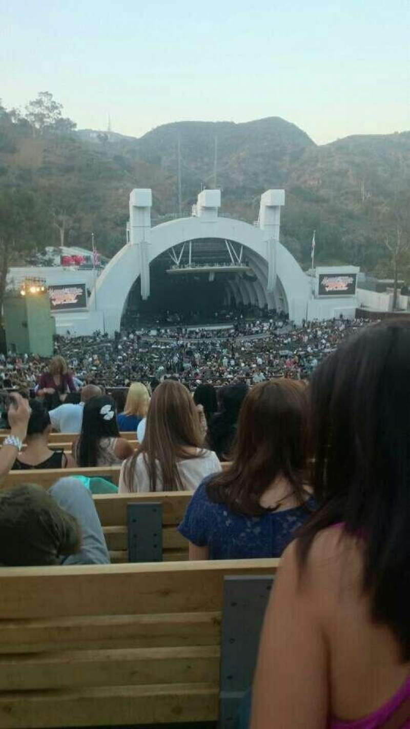 Seating view for Hollywood Bowl Section P1 Row 21 Seat 44