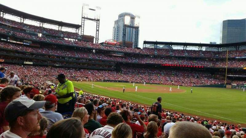 Seating view for Busch Stadium Section 134 Row 18 Seat 8