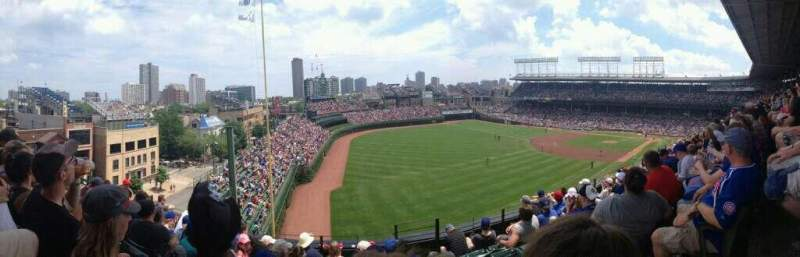 Seating view for Wrigley Field Section 306