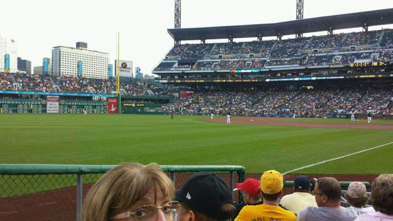Seating view for PNC Park Section 31 Row H Seat 4