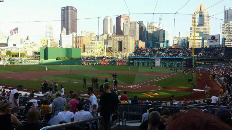 Seating view for PNC Park Section 117 Row L Seat 25