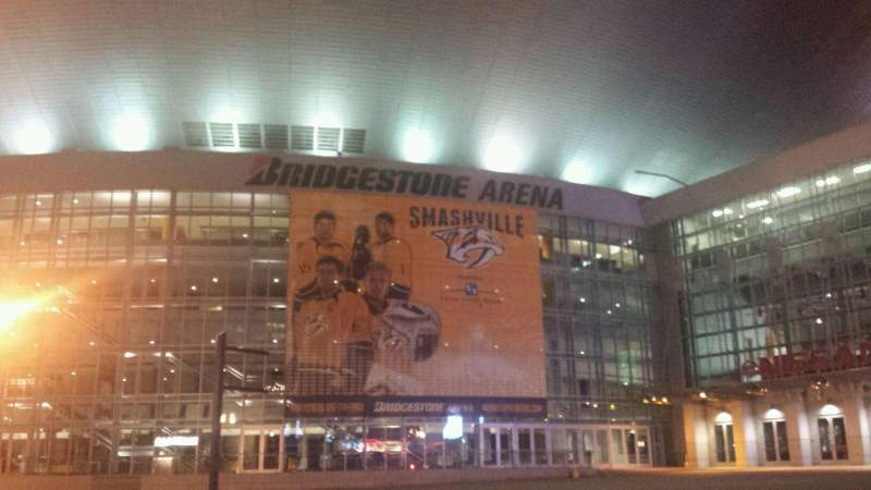 Seating view for Bridgestone Arena Section Outside