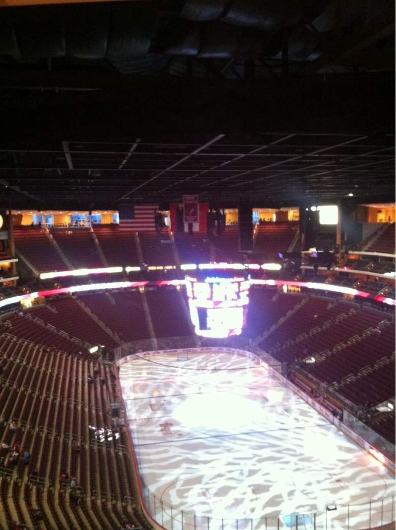 Seating view for Gila River Arena Section 209 Row Q Seat 1