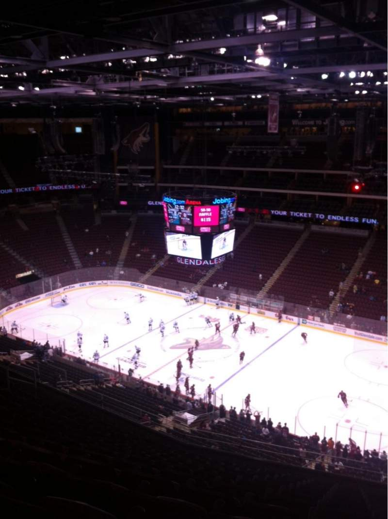 Seating view for Gila River Arena Section 228 Row K Seat 1