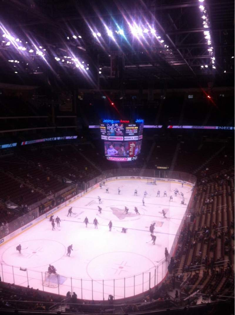 Seating view for Gila River Arena Section 221 Row H Seat 10
