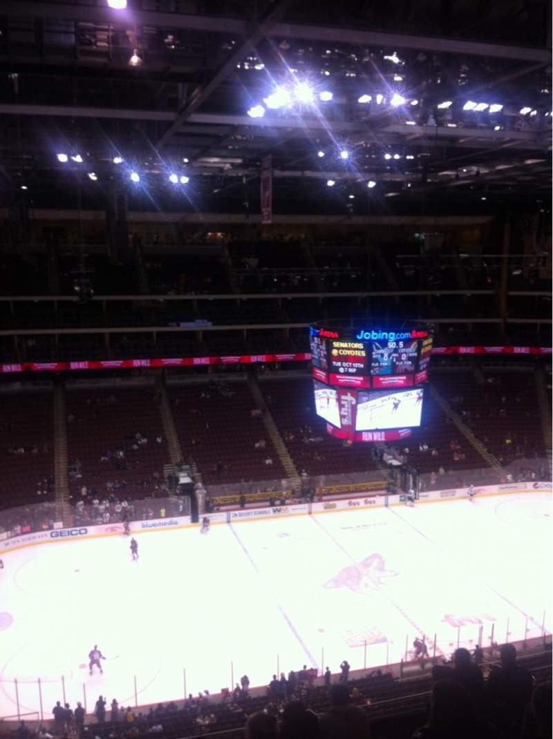 Seating view for Gila River Arena Section 217 Row H Seat 18