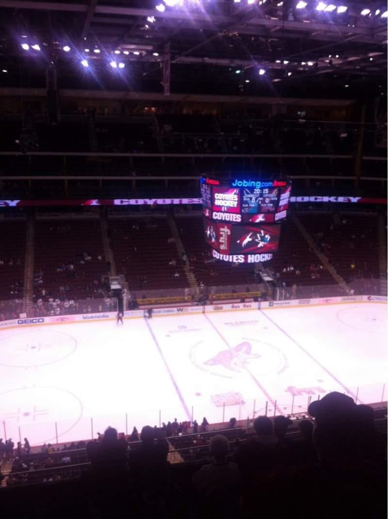 Seating view for Gila River Arena Section 217 Row G Seat 11