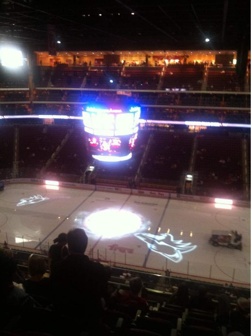Seating view for Gila River Arena Section 214 Row H Seat 13