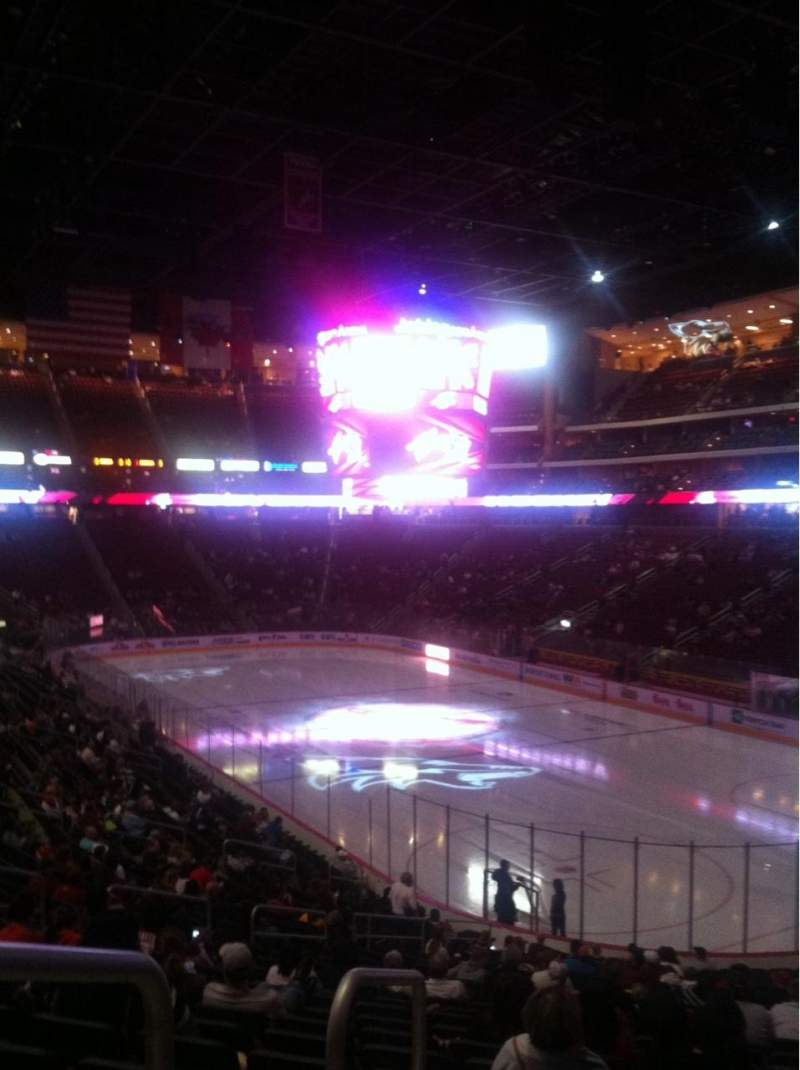 Seating view for Gila River Arena Section 108 Row Y Seat 13