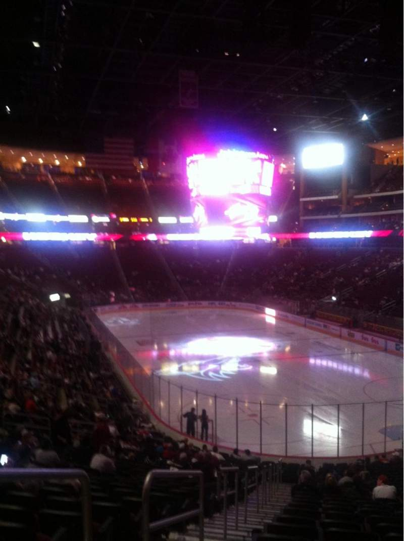 Seating view for Gila River Arena Section 107 Row Z Seat 24
