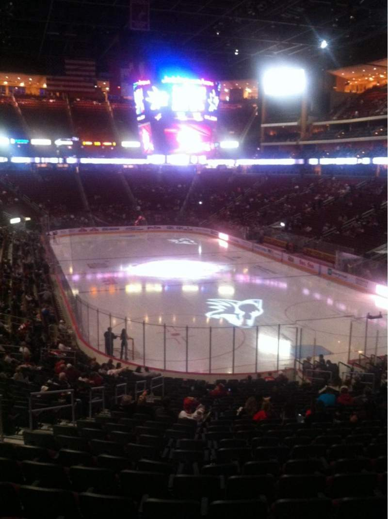 Seating view for Gila River Arena Section 107 Row Z Seat 20