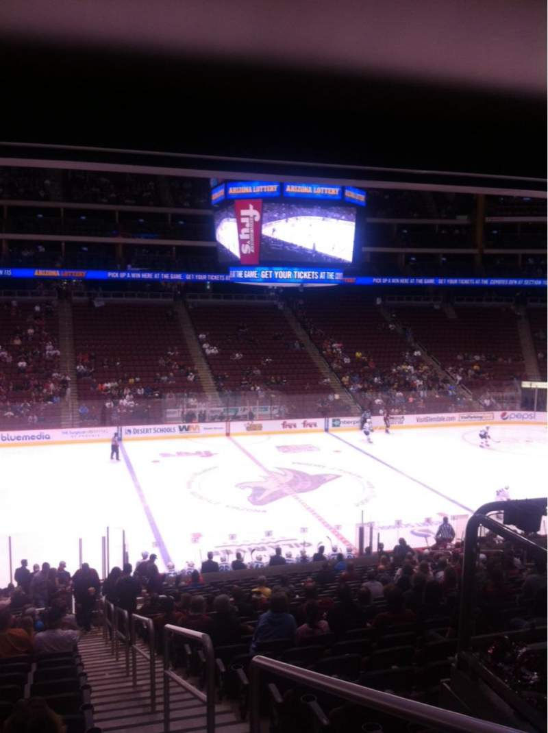 Seating view for Gila River Arena Section 102 Row Z Seat 1