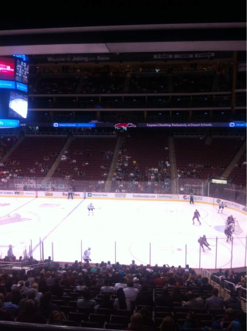 Seating view for Gila River Arena Section 121 Row W Seat 5