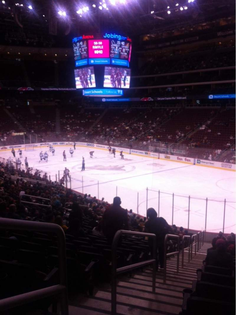 Seating view for Gila River Arena Section 119 Row W Seat 25