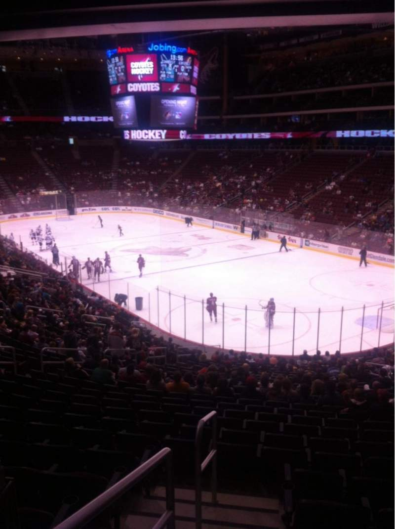 Seating view for Gila River Arena Section 119 Row Y Seat 13