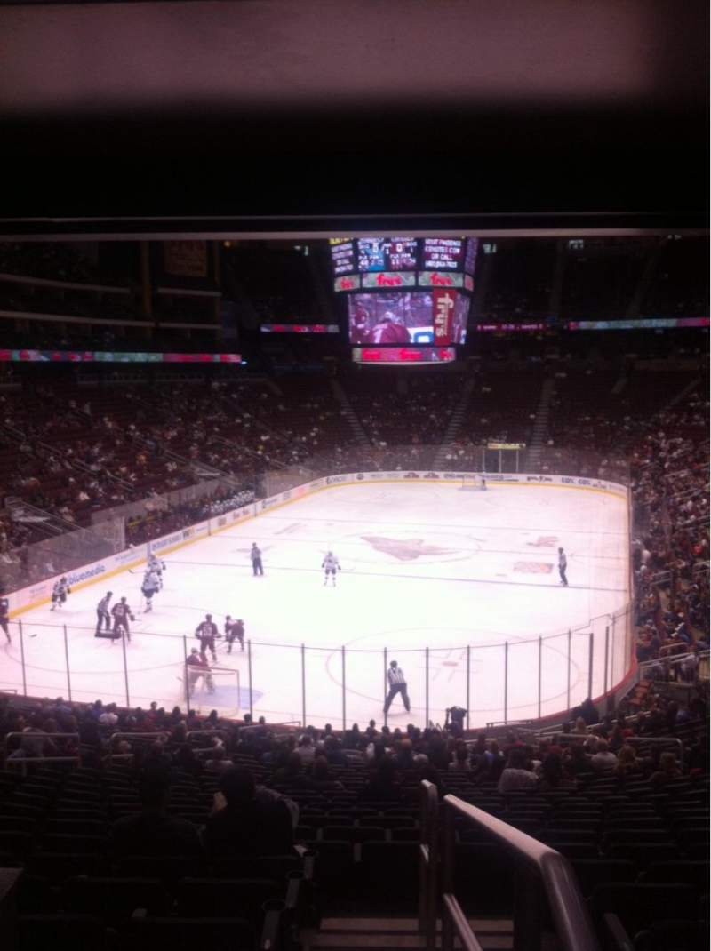 Seating view for Gila River Arena Section 116 Row Y Seat 12