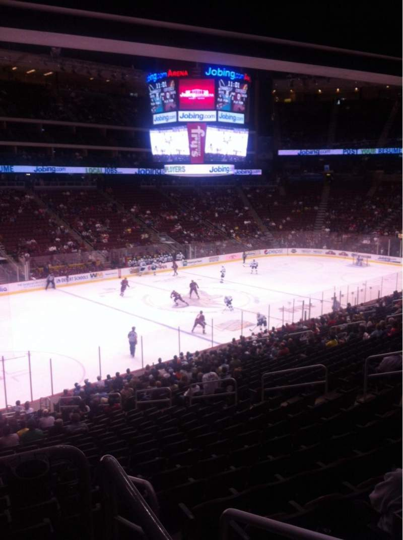 Seating view for Gila River Arena Section 114 Row W Seat 14