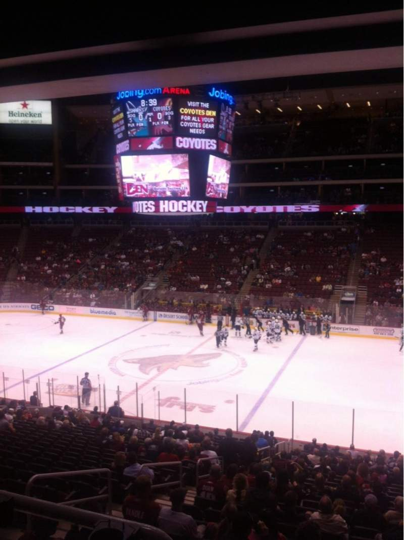 Seating view for Gila River Arena Section 110 Row Y Seat 15