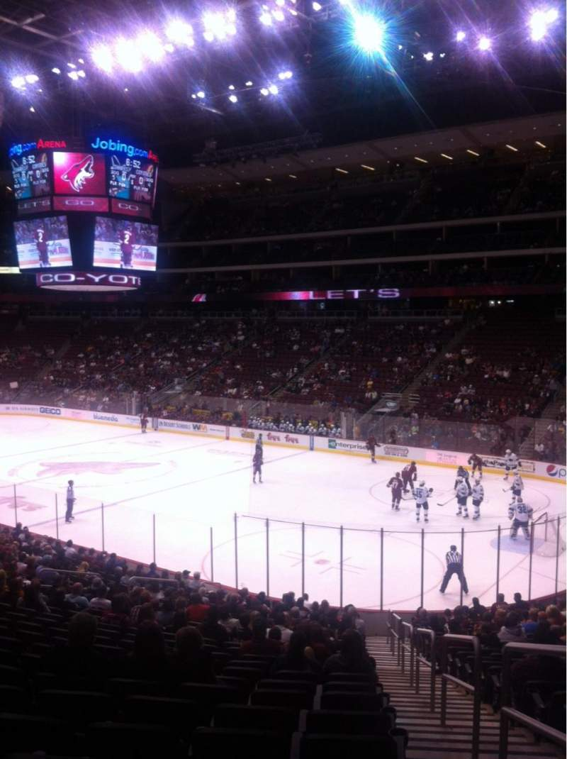 Seating view for Gila River Arena Section 109 Row W Seat 1