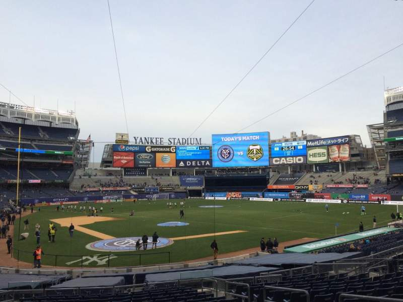 Seating view for Yankee Stadium Section 119 Row 26 Seat 4