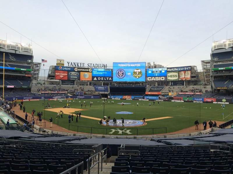 Seating view for Yankee Stadium Section 120a Row 26 Seat 10