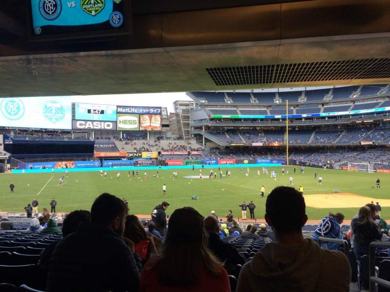 Seating view for Yankee Stadium Section 127a Row 30 Seat 1