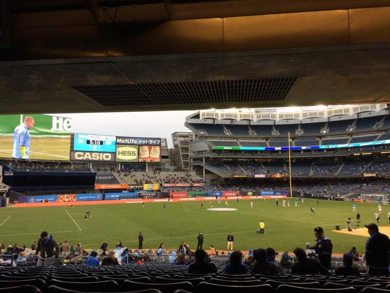 Seating view for Yankee Stadium Section 128 Row 30 Seat 6