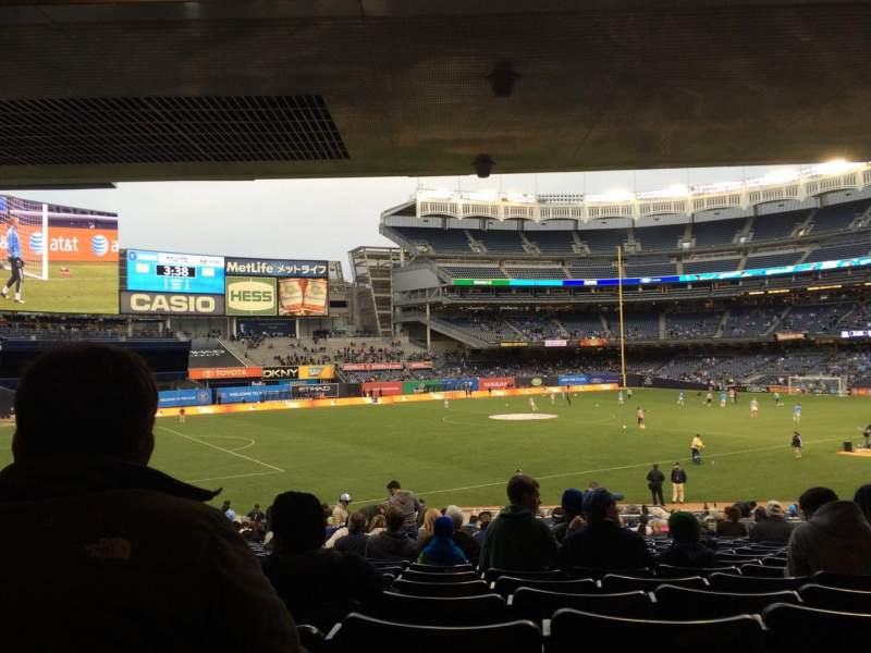Seating view for Yankee Stadium Section 129 Row 30 Seat 11