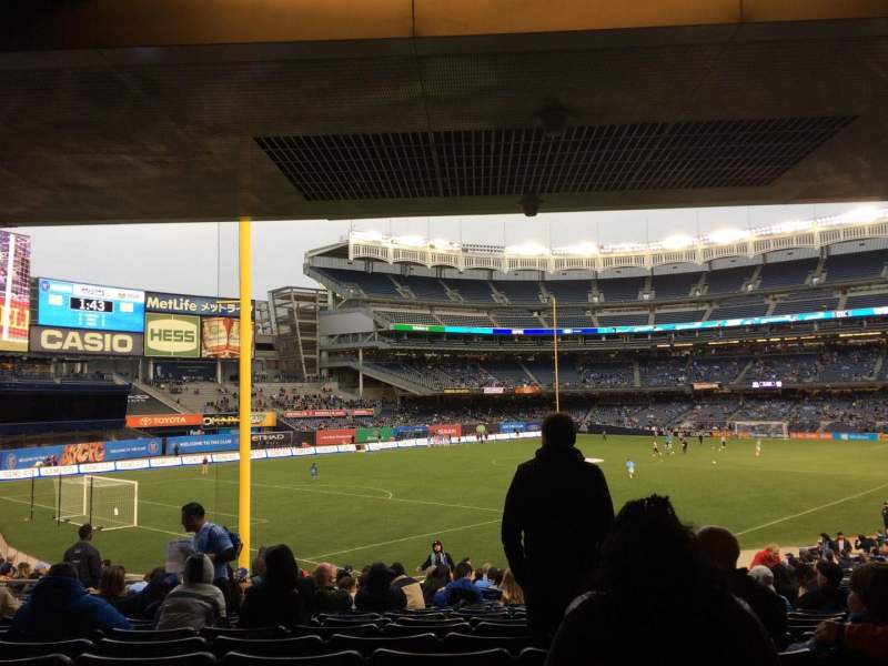 Seating view for Yankee Stadium Section 131 Row 29 Seat 10