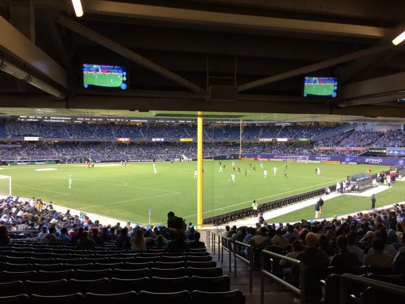 Seating view for Yankee Stadium Section 108 Row 30 Seat 1